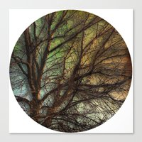 psychadelic Canvas Prints featuring Psychadelic Tree by Jeanne Hollington