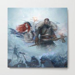 Nordic Warriors Official Art Metal Print