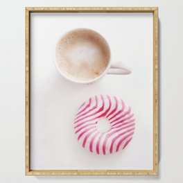 Pink donut Serving Tray