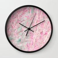 pastel Wall Clocks featuring Pastel by Eugenie