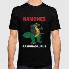 Ramonasaurus  Black LARGE Mens Fitted Tee