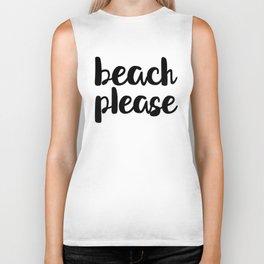 Beach Please Biker Tank