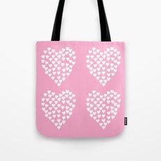 Hearts Heart x2 Pink Tote Bag