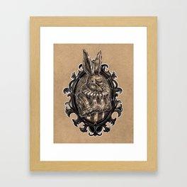 Rabbit Portrait Framed Art Print