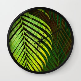 TROPICAL GREENERY LEAVES no10 Wall Clock