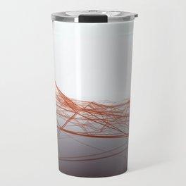 Waving and vibrating network surface. Travel Mug