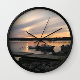 Blessed Harbor Wall Clock