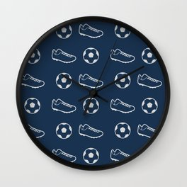 The Soccer Pattern Wall Clock