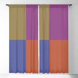 Brown Blue Purple Orange Geometric Minimal Design Blackout Curtain