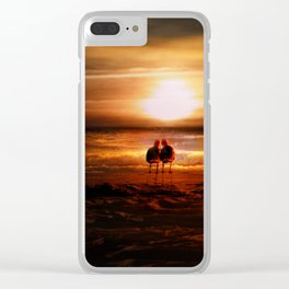 Seagulls - Lovebirds at Sunset Clear iPhone Case