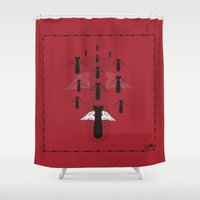 angels Shower Curtains featuring Angels by Juan Carlos Campos
