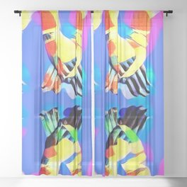 Summer Collection Holding Hands 2 Sheer Curtain