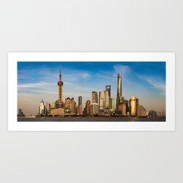 Shanghai's Pudong Panorama Art Print