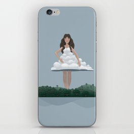 Cloud and woman iPhone Skin
