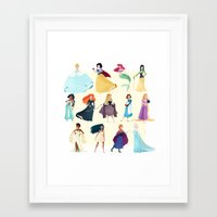 princess Framed Art Prints featuring Princess by Chabe Escalante