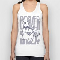 beaver Tank Tops featuring Beaver' Style by Kiwii Illustration