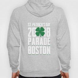 St. Patrick's Day 2018 Parade Boston Green Shamrock Hoody