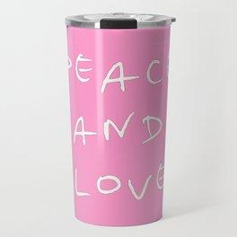 Peace and love 3 Travel Mug