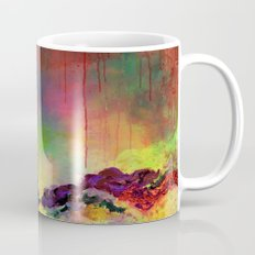 IT'S A ROSE COLORED LIFE 4 - Deep Red Colorful Floral Garden Abstract Crimson Green Painting Mug