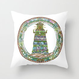 122 - Sunken Lighthouse Throw Pillow