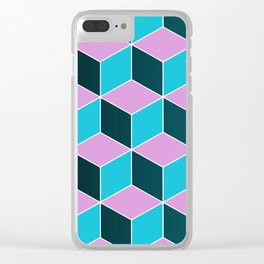 Pop Blocks Clear iPhone Case