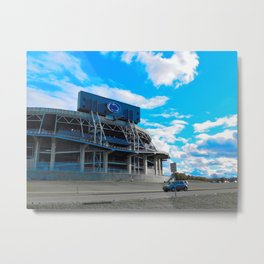 We are... all about that blue Metal Print
