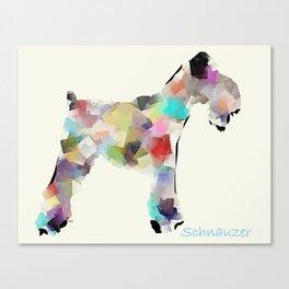 Schnauzer modern Canvas Print