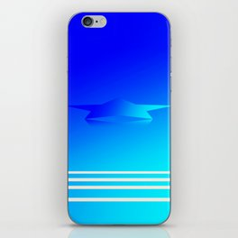 Star Flight Space Carrier - Midnight Navy Blue Turquoise iPhone Skin