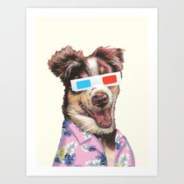 tropical shirt and the 3D glasses Art Print