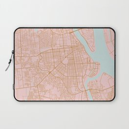 Pink and gold Phnom Penh map, Cambodia Laptop Sleeve