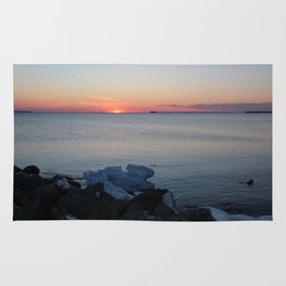 Late winter - early spring sunset Rug