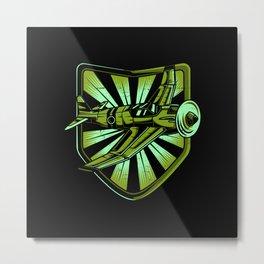 Airplane Lover Gift Idea Design Motif Metal Print