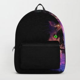 Space Cat Awaits in the Stars Backpack