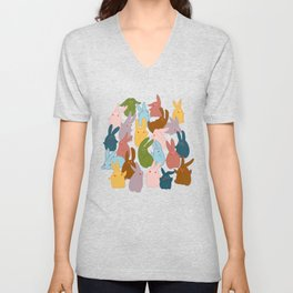 Bunnies be hanging out Unisex V-Neck