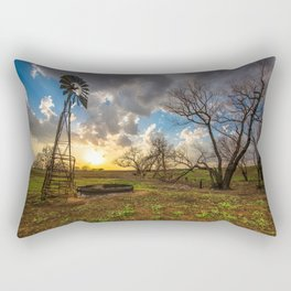 Twilight - Charred Landscape Comes Back to Life at Sunset in Kansas Rectangular Pillow