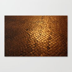 paving stone gold Canvas Print