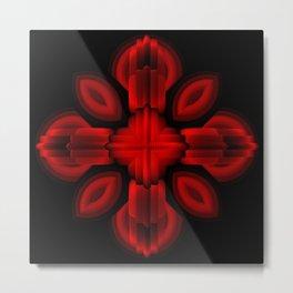 Red Glow Metal Print