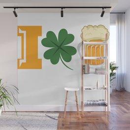 St Patricks Day I Love Beer Irish Ireland Gift Wall Mural