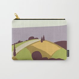 Vintage Style Road Cycling Print Carry-All Pouch