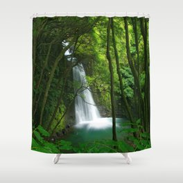 Waterfall in the Azores Shower Curtain