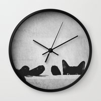 relax Wall Clocks featuring Relax by SensualPatterns
