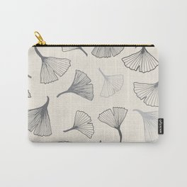 Ginko leaves grey Carry-All Pouch