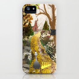 Geese on the golden lane iPhone Case