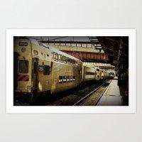 marc allante Art Prints featuring Marc Train by Reggie Thomas Photos