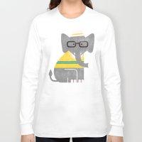 preppy Long Sleeve T-shirts featuring Rodney the preppy elephant by Picomodi