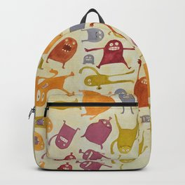Watercolor Critter Pattern Alpha Backpack