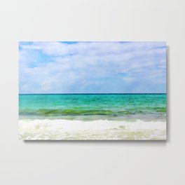Waves Watercolr Metal Print