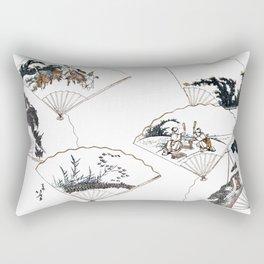 Mutamagawa senmen harimaze Hokusai Katsushika Ukiyo-E Japanese Rectangular Pillow