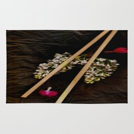 Chop Sticks Pattern Rug