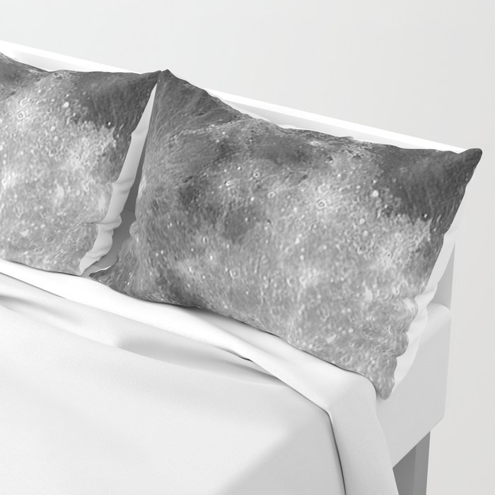 Black & White Moon Pillow Sham